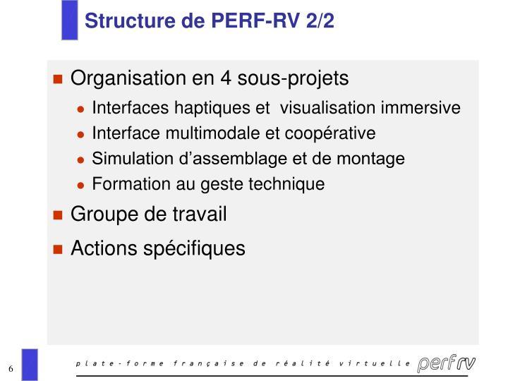 Structure de PERF-RV 2/2