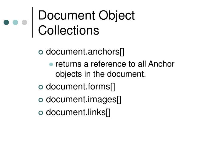 Document Object Collections