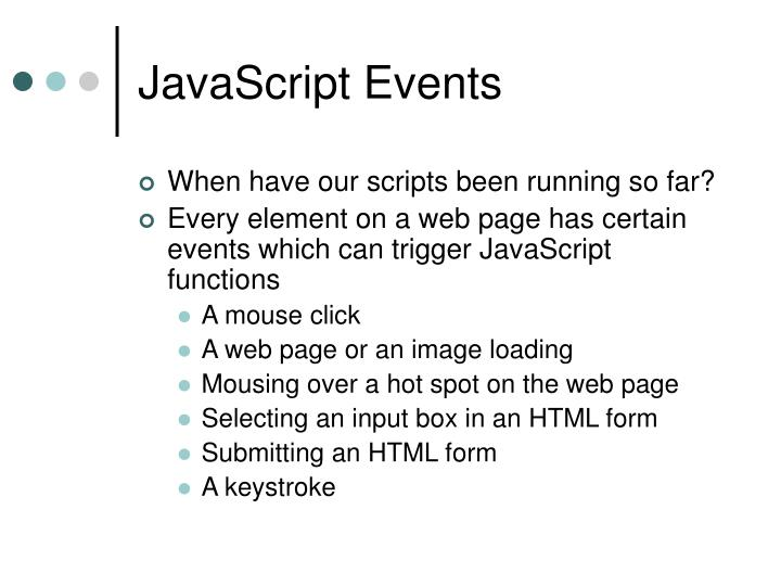 JavaScript Events