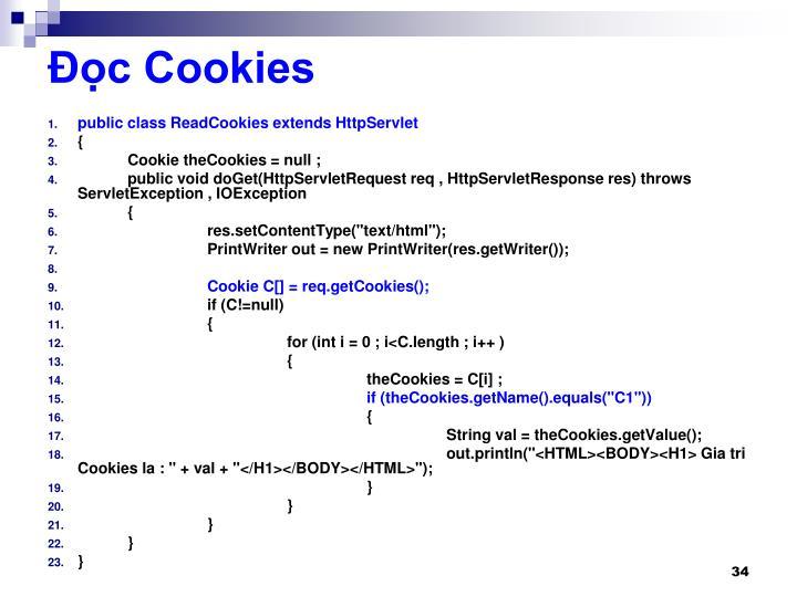 Đọc Cookies