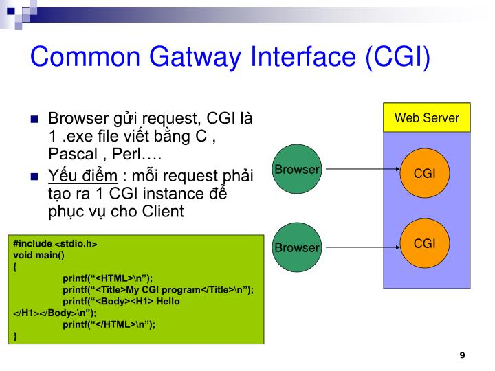 Common Gatway Interface (CGI)
