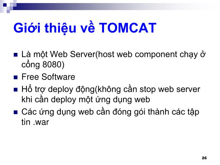Giới thiệu về TOMCAT