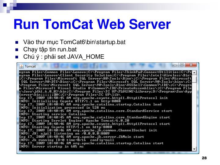 Run TomCat Web Server