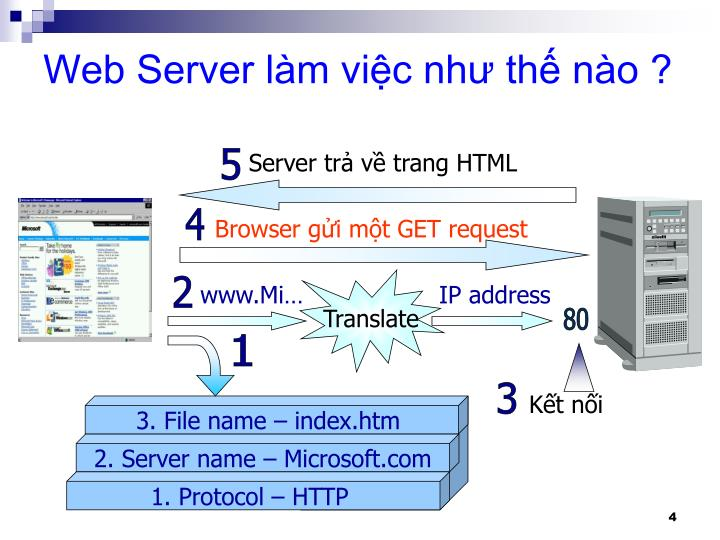 Server trả về trang HTML