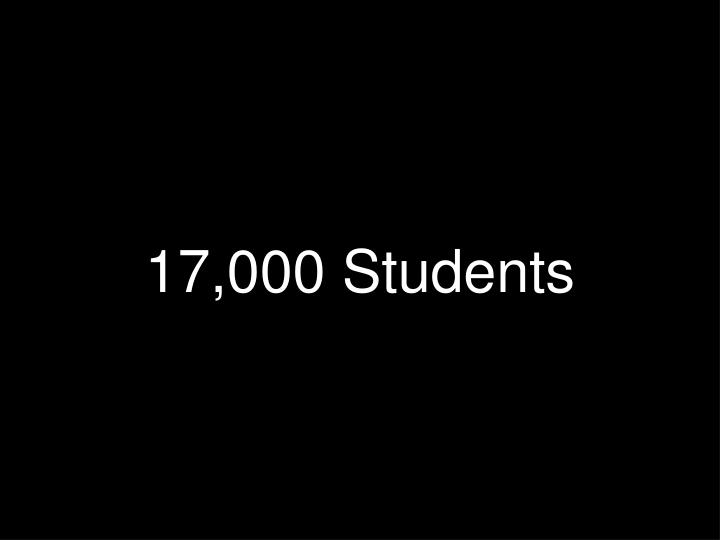 17,000 Students