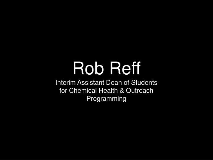 Rob Reff
