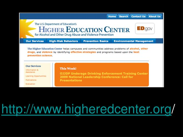 http://www.higheredcenter.org