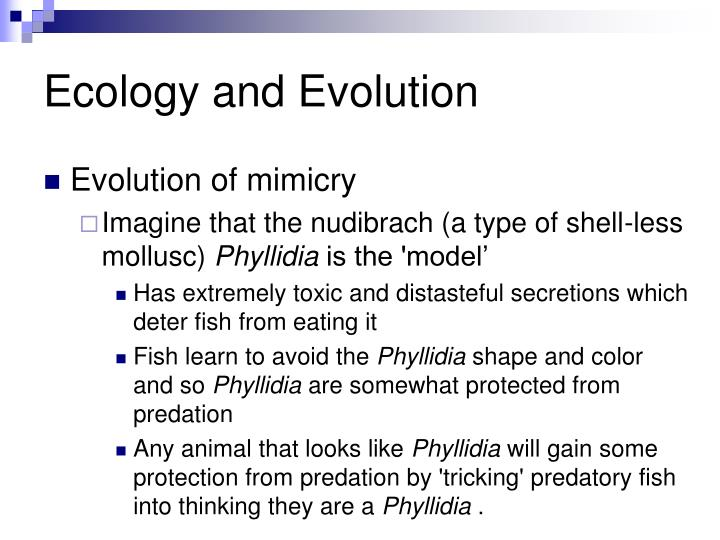 Ecology and Evolution