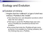 ecology and evolution1
