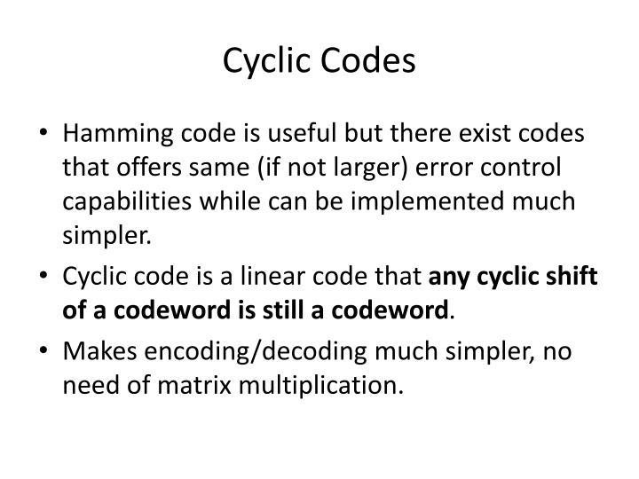 Cyclic Codes