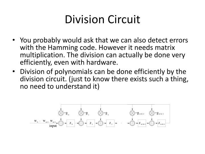 Division Circuit