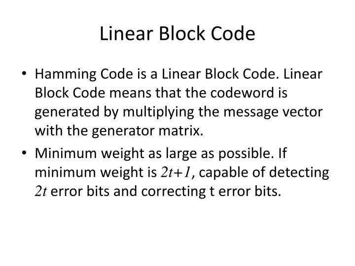 Linear Block Code