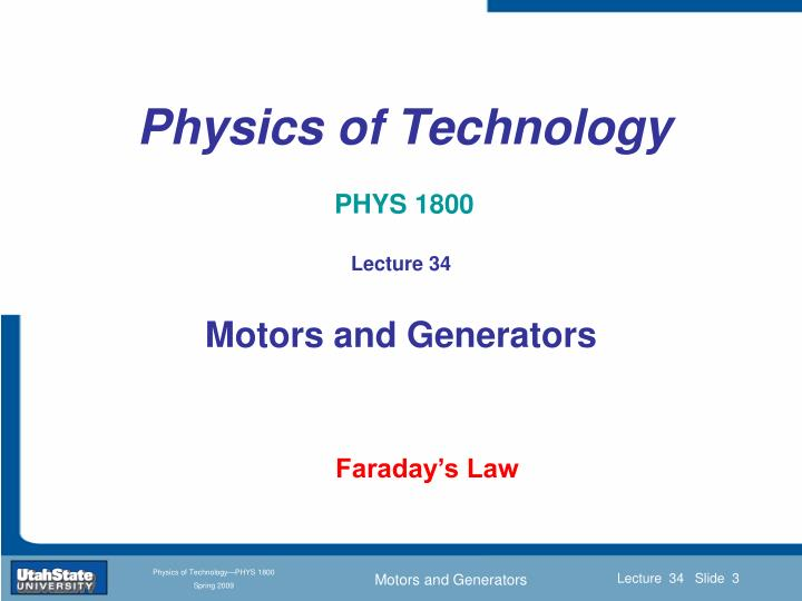 Physics of technology phys 18001