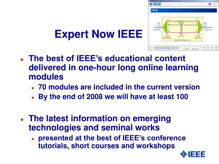 Expert Now IEEE