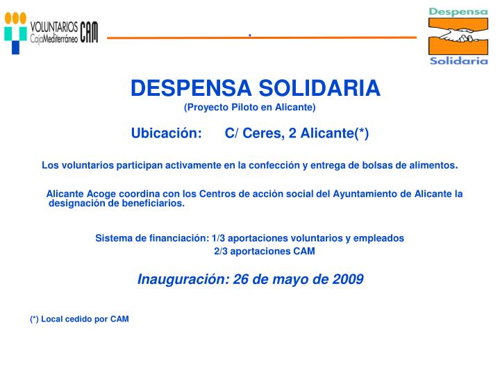 DESPENSA SOLIDARIA