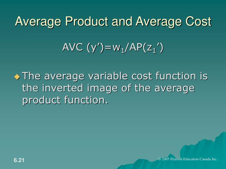 Average Product and Average Cost