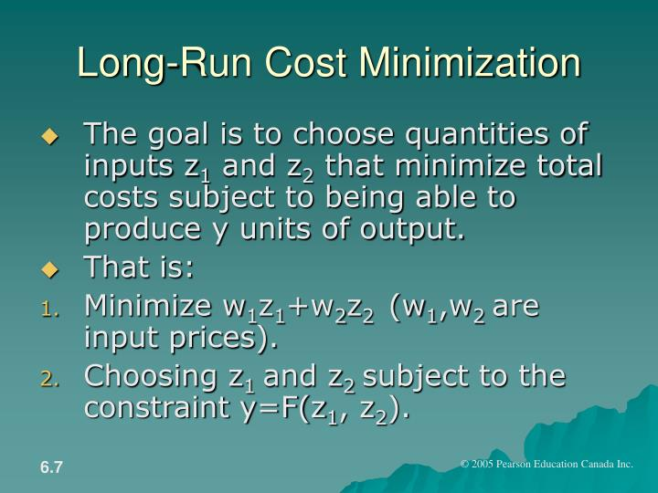 Long-Run Cost Minimization