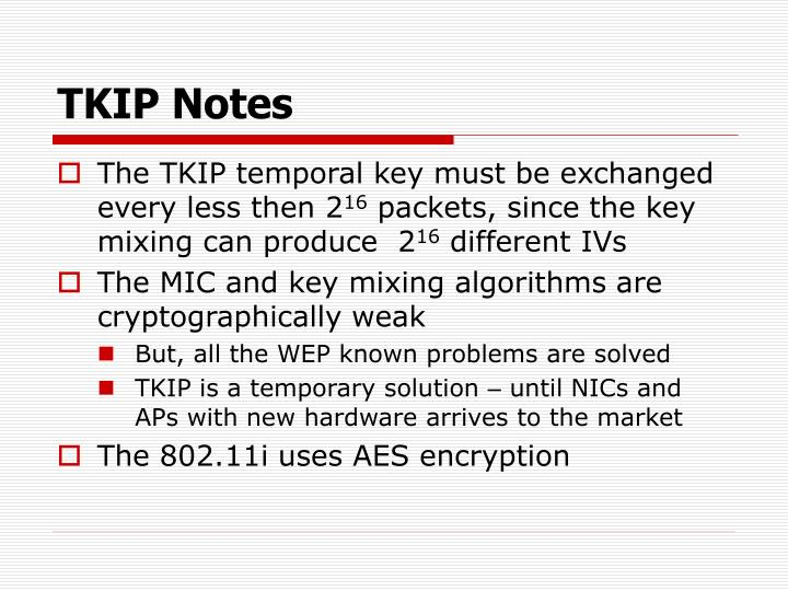 TKIP Notes
