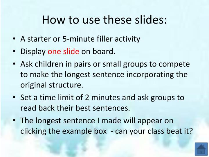 How to use these slides