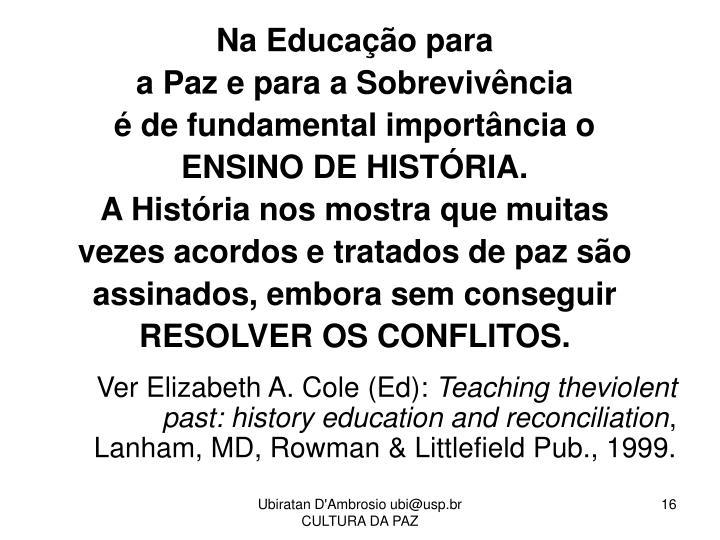Na Educação para