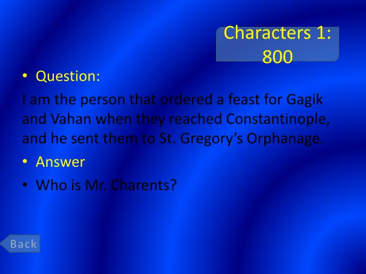 Characters 1: 800