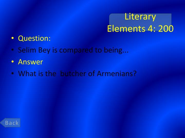 Literary Elements 4: 200