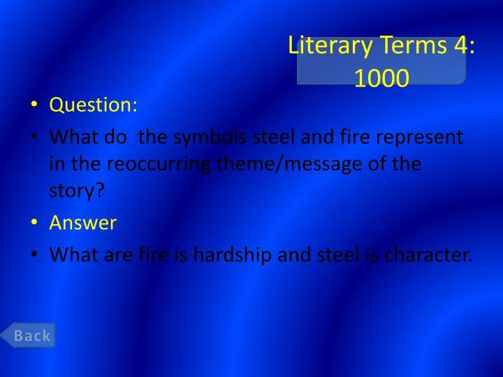 Literary Terms 4: 1000