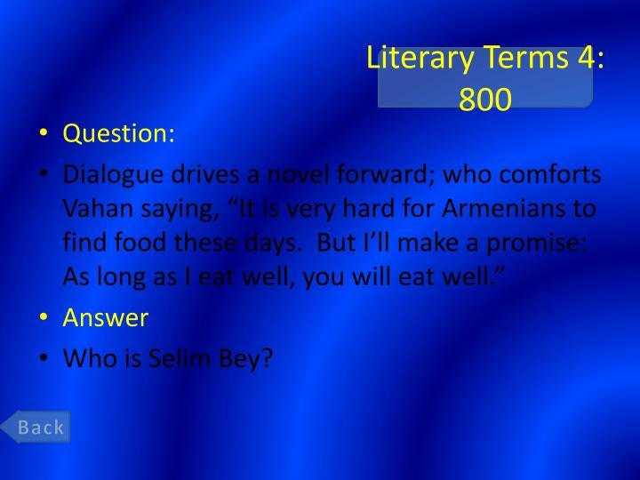 Literary Terms 4: 800