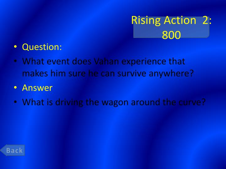 Rising Action  2: 800
