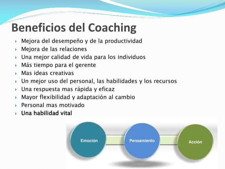 Beneficios del Coaching