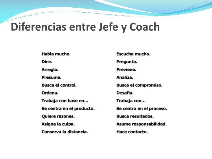 Diferencias entre Jefe y Coach