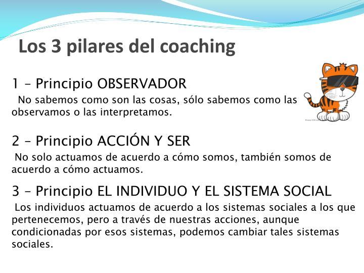 Los 3 pilares del coaching