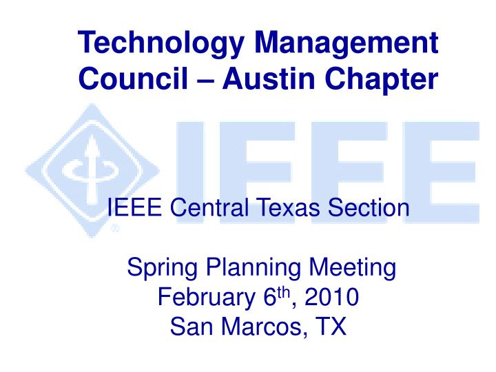 Technology Management Council – Austin Chapter