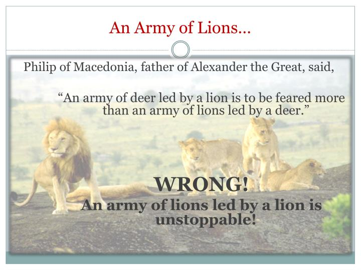An Army of Lions…