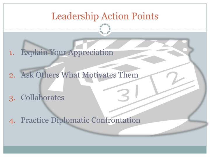 Leadership Action Points