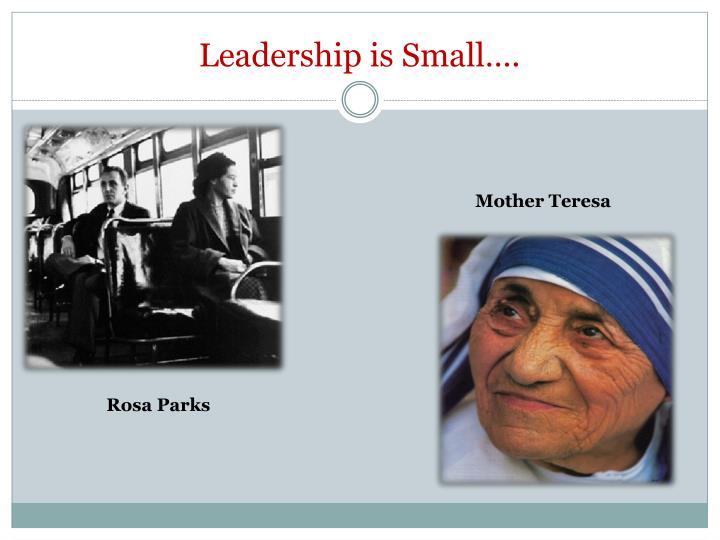Leadership is Small….