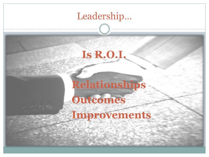 Leadership…
