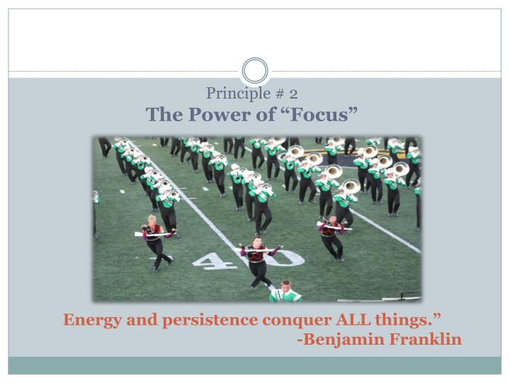 Principle # 2