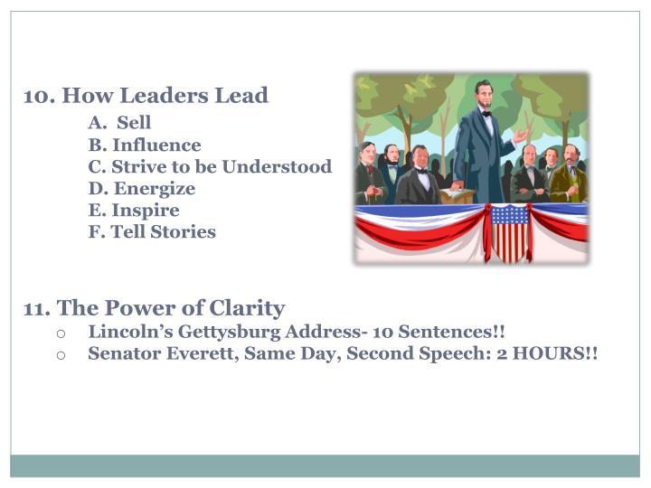 10. How Leaders Lead