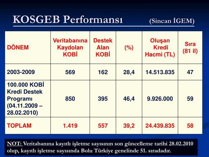 KOSGEB Performansı
