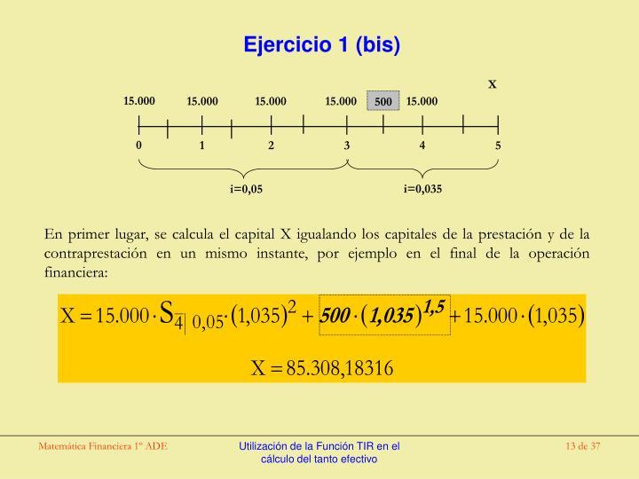 Ejercicio 1 (bis)