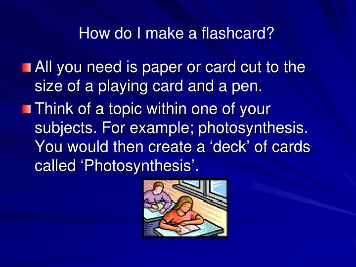 How do I make a flashcard?