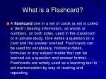 what is a flashcard