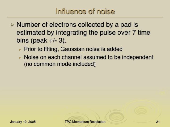 Influence of noise