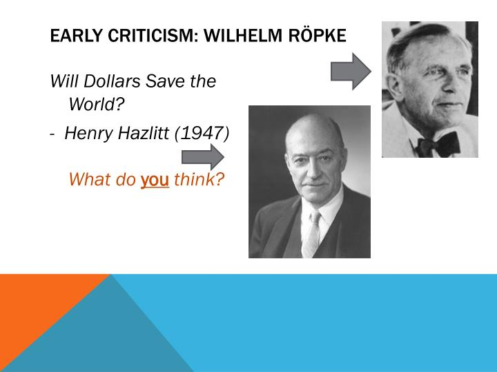 Early Criticism: