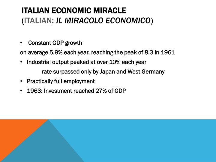 Italian economic miracle