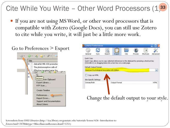 If you are not using MS Word, or other word processors that is compatible with