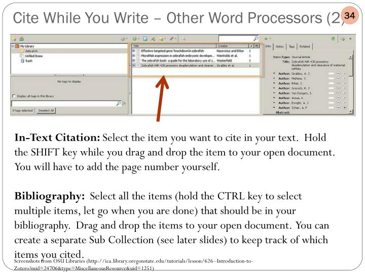 Cite While You Write – Other Word Processors (2)