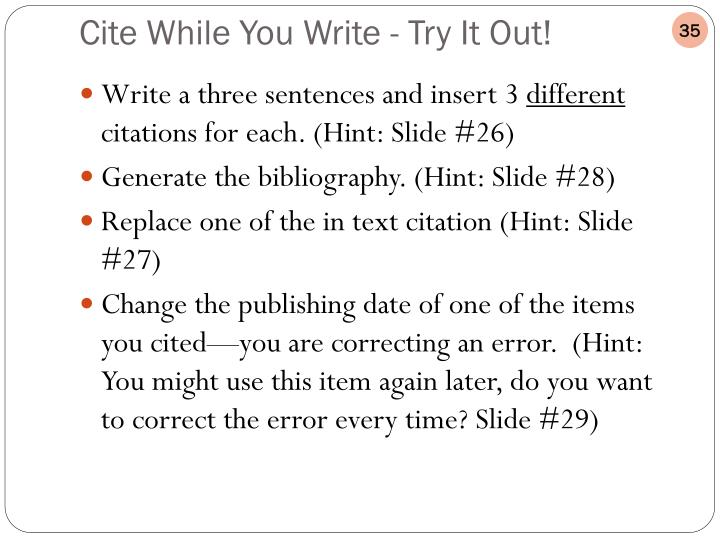 Write a three sentences and insert 3