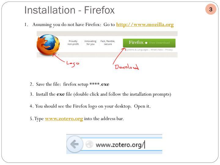 Installation - Firefox